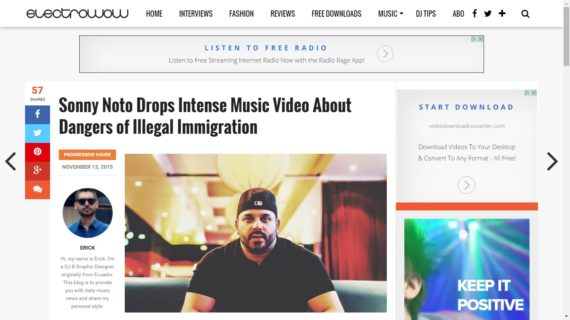 Sonny Noto drops intense music video