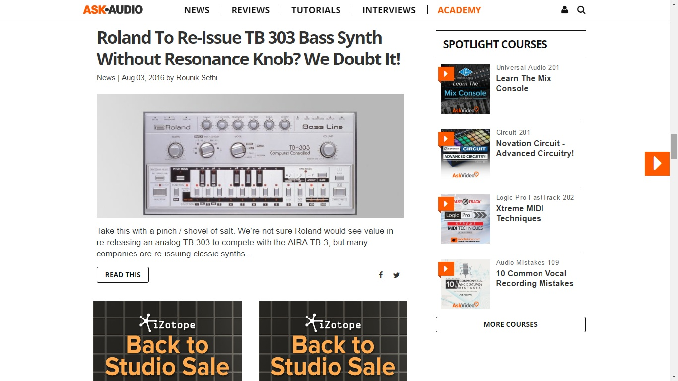 Ask Audio TB 303 feature