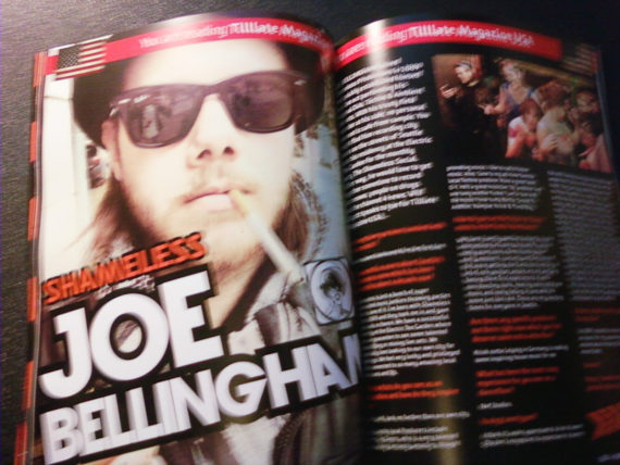 Two page spread for JOE BELLINGHAM