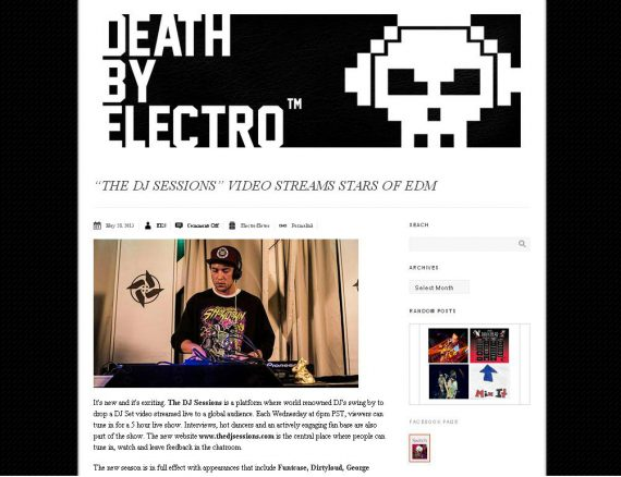 Death By Electro features The DJ Sessions